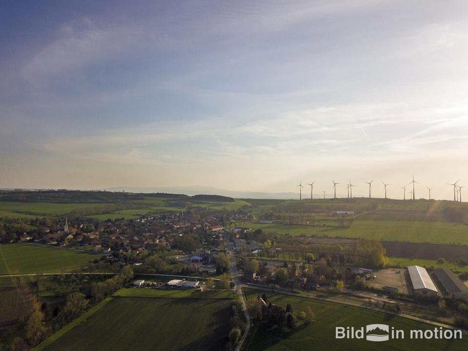 Drohne Luftbild Badersleben Huy