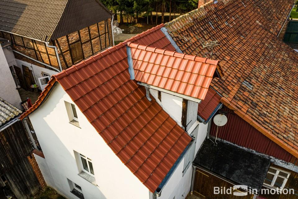 Dach Inspektion Luftbild mit Drohne