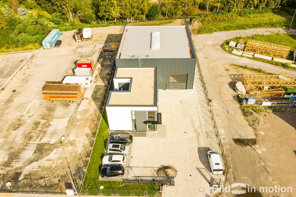 Luftbilder fuer Unternehmen Drohne Messe Prospekt