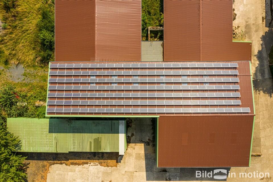 Solaranlagen Energie Inspektion Drohne Fotograf Luftbild